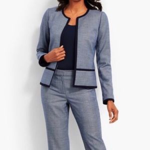 TALBOTS navy blue textured Westport blazer 8P